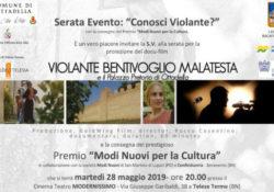 """Telese Terme. Serata evento """"Conosci Violante?"""" con l'attrice sannita Francesca Amodio."""