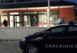 """Capua. Colpo fallito alla Banca di Credito Cooperativo """"Terra di Lavoro"""", ladri in fuga: è caccia ai malviventi."""