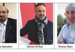 PIEDIMONTE MATESE. Tre sindaci di frontiera in corsa per la guida dell'ente montano: Imperadore, De Rosa, Lanzone.