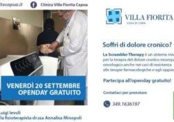 Capua. Dolore cronico, open day alla Villa Fiorita con la scrambler therapy.