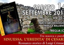 """PONTELATONE. La presentazione del romanzo storico di Luigi Crimaco """"Sinuessa, l'eredità di Cesare"""" a cura della Pro loco """"La Trebulana""""."""