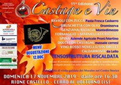"""Cerro al Volturno. """"Castagn e vin"""": l'evento in città domenica prossima 17 novembre."""