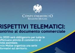 """Venafro / Agnone. Corrispettivi telematici, Tartaglia (Confcommercio Molise): """"Occorre accelerare"""", utimi incontri tematici."""