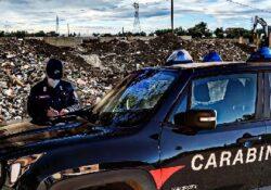 CALVI RISORTA. I Carabinieri Forestale sequestrano area interessata da illecito smaltimento di rifiuti speciali provenienti da demolizioni.