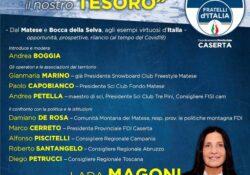 """PIEDIMONTE MATESE. """"La Montagna, il nostro tesoro"""": la diretta facebook a cura di Fratelli d'Italia."""