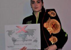 """Caserta / Provincia. Vincenza Improta """"Athlete of the year X.F.C. 2020"""": la campionessa italiana di pugilato a squadre conquista altri titoli."""