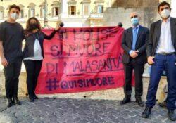 """Venafro / Isernia. """"Vicina ai molisani in Piazza Montecitorio. Il ministro Speranza venga a riferire in aula sui problemi della sanità pubblica molisana""""."""
