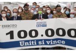 Caserta / Provincia. All'hub Brigata Garibaldi raggiunte le 100mila dosi di vaccino somministrate in due mesi.