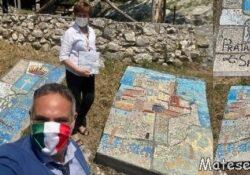 PRATA SANNITA. Patti di collaborazione con i cittadini: si inizia col restauro dei mosaici di fronte al Castello.